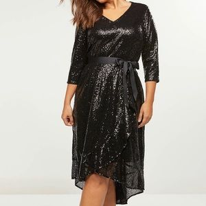 🌟Lane Bryant Sequin Fit & Flare Party Dress NWT